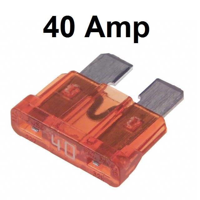 Car Spare 100x Standard Blade Fuses 40 Amp Van Cab Truck Mpv Jeep Boat Motorbike