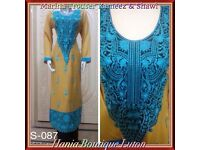 Pakistani Ready Made Shalwar Trouser Kameez Suits Two For £35