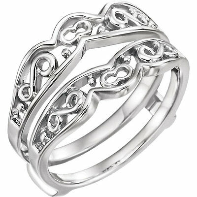 Sterling Silver Wrap Style Ring Enhancer Band Vintage Antique Band Ladies