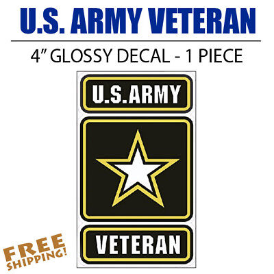 - U.S. Army Veteran MEDIUM Vinyl Decal Glossy Sticker Go Army