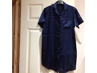 "Girls blue silky nightdress - Bust size 32"" - Good condition"