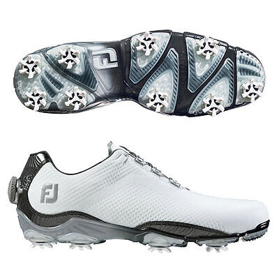 FOOTJOY MEN'S DNA BOA GOLF SHOES  SIZE:11.5 WIDE  WHITE/GREY  #53469  NEW! 14986