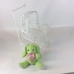 Lacy Wire Baby Carriage - Baby Shower Accessory