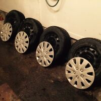 """Snow Tires 16"""" (with rims and covers)"""