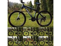 "Blue and Black 2016 Giant Atx Mountain bike ""NEW"" boxed 26""1.95 Medium Size Aluminum Alloy"