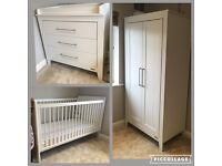 Mamas and Papas White 'Coastline' Furniture Set - including 'Tall Boy' Shelving unit