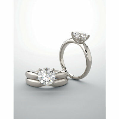 GIA 3.01 ct Round Diamond Engagement Solitaire 14k White Gold Ring G SI2 clarity 3