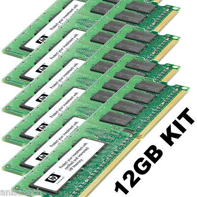 Ecc Single Rank Kit (HP DL360 G4p upgrade kit 12GB (6x 2GB) Single Rank 1Rx4 PC2-3200R ECC DDR2 REG)