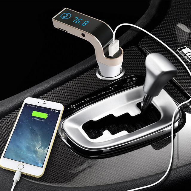 USB Charger Kit Bluetooth Car Kit Handsfree FM Transmitter Radio MP3 Player