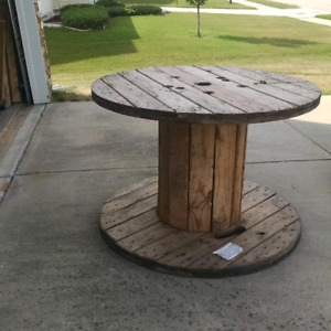 WANTED: wooden spool, 2.5 feet wide