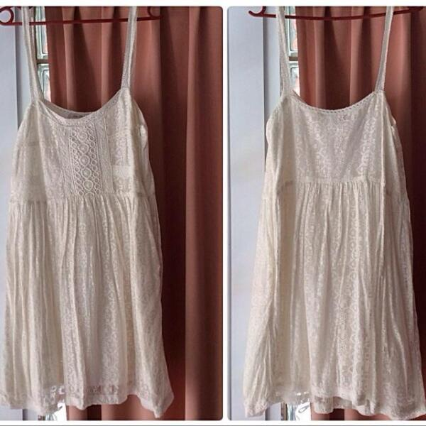 Pre Loved Zara White Lace Sleeveless Dress