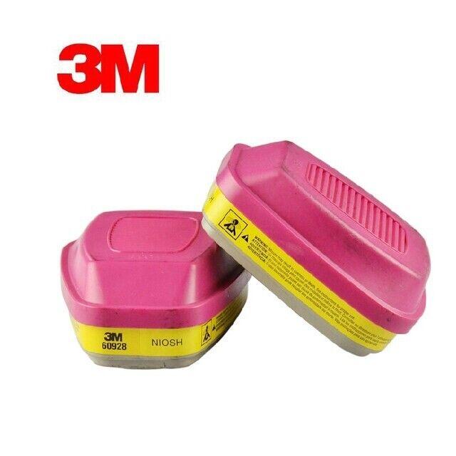 3M 60928 Organic Vapor/Acid Gas P1OO Replacement Respirator Cartridge, 1 Pair Business & Industrial