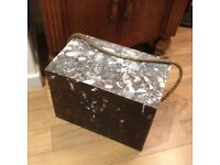 Vintage wooden storage box, distressed look