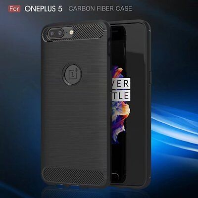 Rugged Silicone - For OnePlus 5 Slim Shockproof Rubber Rugged Silicone Matte Back Phone Case Cover