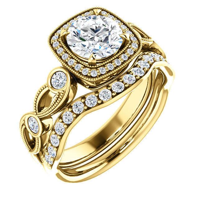 GIA 1.00 carat Round Diamond Engagement Wedding 14k White Gold Ring F color SI2