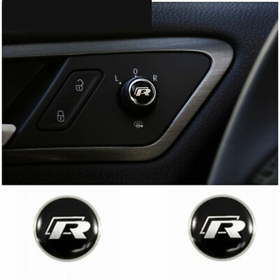4x VW R EMBLEM 14mm Schlüssel Aufkleber GTI R-Line Polo Passat a6 b7 Golf 3 5 7