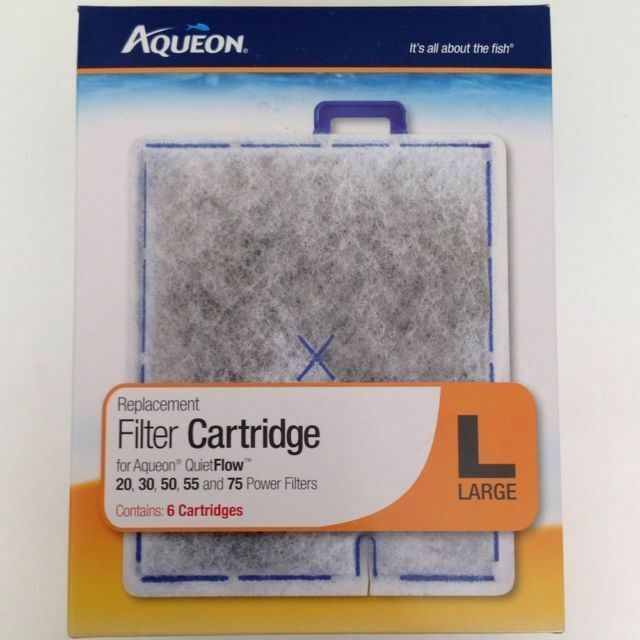 Aqueon Large Replacement Filter Cartridges 6-Pack for QuietFlow 20 30 50 55