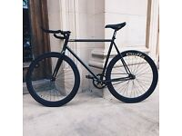 Quella Premium Matte Triple Black Single Speed Road Bike RRP £550