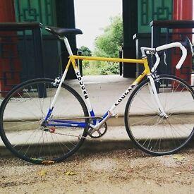58cm Rare Vintage Single Speed Track Bike - Cougar - Terry Dolan - Reynolds 753 Steel