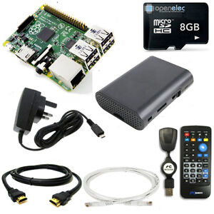 8GB Media Centre with Raspberry Pi 3 Quad Core IR Remote KODI XBMC