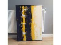 Large framed modern art paint on canvas
