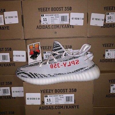 """2018 Adidas Yeezy Boost 350 V2 """"Zebra"""" CP9654 NEW Size: 4-14"""