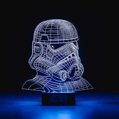 Star Wars StormTrooper Light 3D Illusion Plus Free Star Wars Medal Set of 4