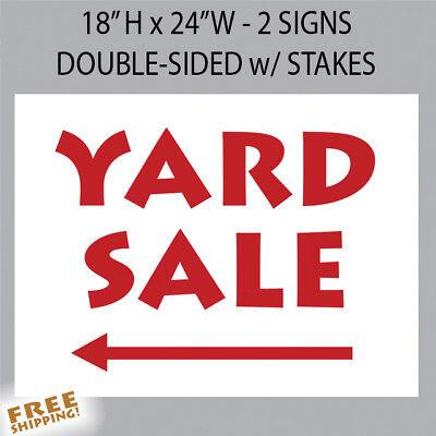 - YARD SALE Premium Yard 2 Signs 18