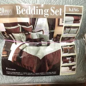 Brand new 20pc King bedding set