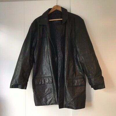 Mens Vintage Oversized Leather Jacket