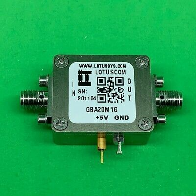 Gain Block Amplifier 3.3db Nf 0.021ghz 15db Gain 19dbm P1db Sma