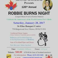 Sons of Scotland Benevolent Association 126th Robbie Burns Dinne
