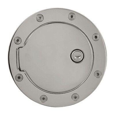 Bully Billet Aluminum Fuel Door Chrome Plated with Lock GD-102CK