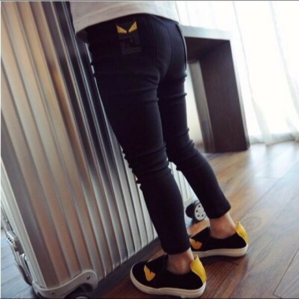 Monster Kids Children Black Legging Pants