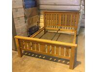 NEW 5' Kingsize solid oak bed frame