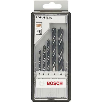 BOSCH 2607010527 5-piece Robust Line brad point drill bit set In Case