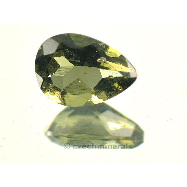 0.64cts pear 5x7mm moldavite faceted cutted gem #BRUS596