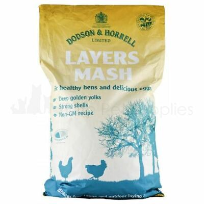 Dodson & Horrell Layers Mash Chickens Ducks Poultry Food Feed 20kg