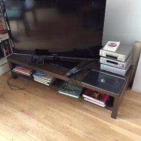 "Dark Brown Ikea ""Lack"" TV Bench"