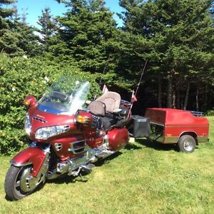 touring bike with a trailer