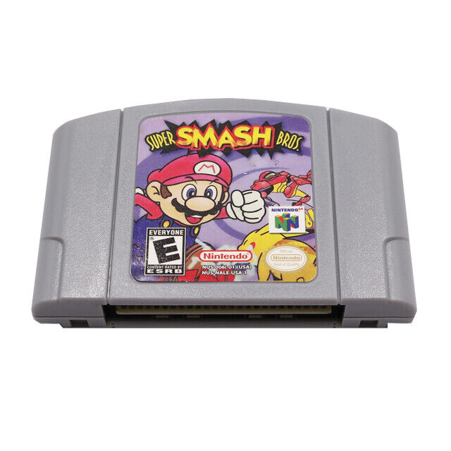 Super Smash Bros Video Game Cartridge Console Card US Version For Nintendo N64