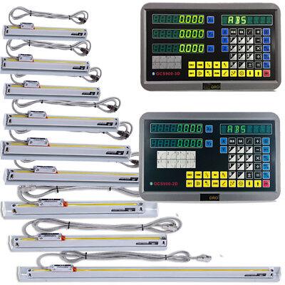 23 Axis Digital Readout Dro Ttl 5um Linear Glass Scale Encoder Milling Lathe Us