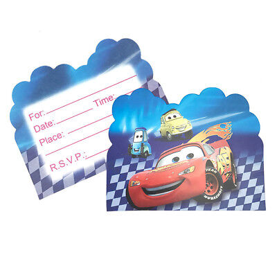 Disney Cars  Birthday Party Invitations 10 pieces Kids US Seller New - Cars Party Invitations