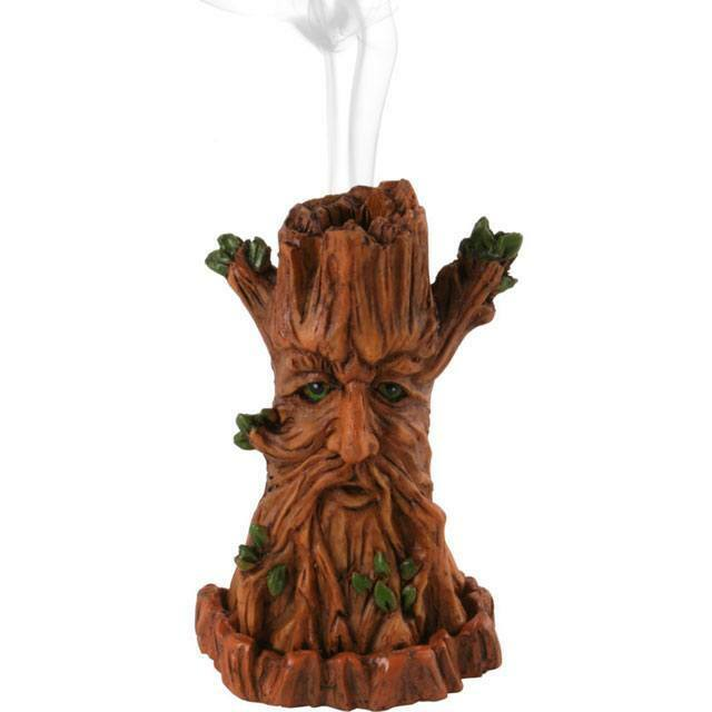 Lisa Parker Green Tree Man Incense Cone Burner Holder Wiccan Pagan Gift Gothic