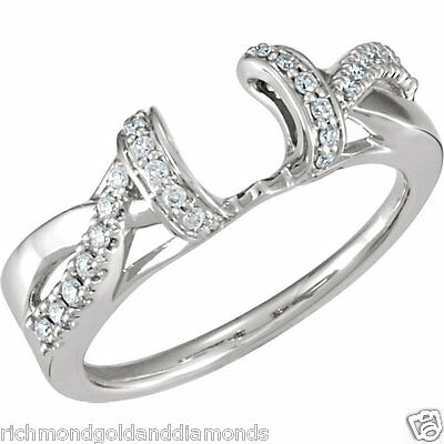 14k white gold 20c solitaire ring wrap guard
