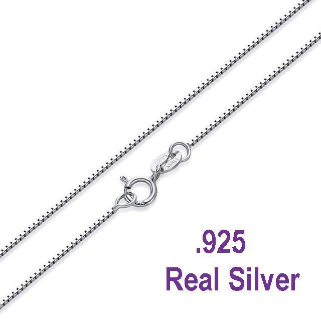 Necklace - .925 Sterling Silver .8mm Box Chain Necklace for Pendants -- *Wholesale Prices*