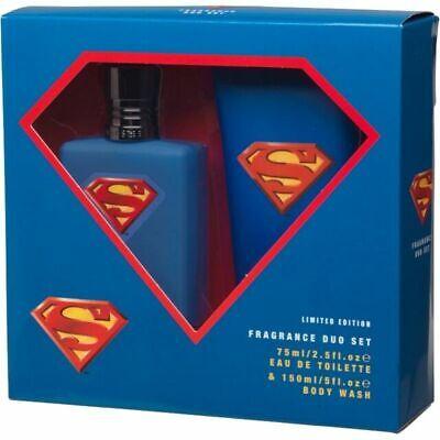 Superman Cologne Men 75 ml / 2.5 Fl.oz EDT Spray Limited Edition Gift Set 2 pc. (6 Cologne Gift Set)