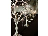 Decorative White Twig Tree 104cm