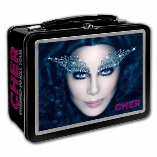 CHER DRESSED TO KILL Rare Metal Lunch Box Concert Tour Memorabilia