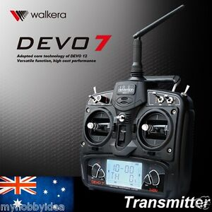Walkera DEVO7 Remote Control RC Transmitter 2.4Ghz 7CH 7 Channel LCD screen